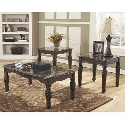 Ashley Furniture Signature Design – North Shore Occasional Table Set – End Tables an ...