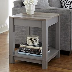 Altra Furniture Altra Carver End Table, Gray/Sonoma Oak