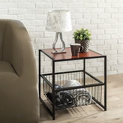 Zinus Modern Studio Collection 20 Inch Deluxe Side / End Table / Coffee Table / Night Stand with ...