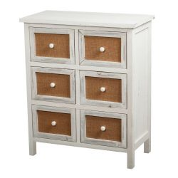 Gallerie Décor Ardsley 6-Drawer Accent Chest, White