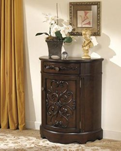 Ashley Furniture Signature Design – Norcastle Accent Cabinet – Antique Style – ...