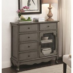 Coaster Accent Cabinet in Antique Gray