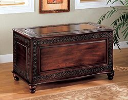 Coaster Home Furnishings  Traditional Cedar Lined Storage Trunk Hope Chest – Deep Tobacco