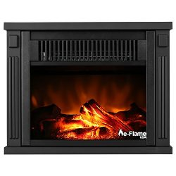 Fairbanks Portable Free Standing Electric Fireplace Stove by e-Flame USA – 10.5-inches Tall – Fe ...