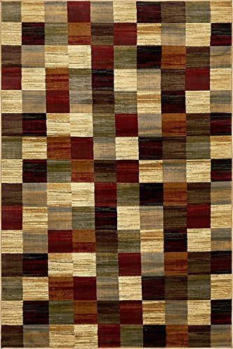 modern contemporary all d cor floor rugs multi 5 39 x 8. Black Bedroom Furniture Sets. Home Design Ideas