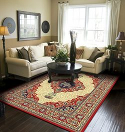 Traditional Area Rug Red Large Rugs For Living Room 8×10 Clearance Under 100