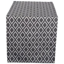 DII 14×108″ Cotton Table Runner, Black and White Diamond – Perfect for Special  ...