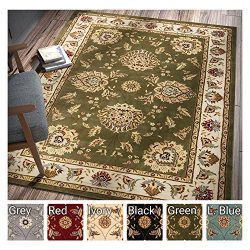 "Sultan Sarouk Green Persian Floral Oriental Formal Traditional 4×5 (3'11"" x 5&# ..."