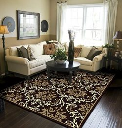 Modern Area Rugs Black 5×8 Rugs for Living Room 5×7 Clearance