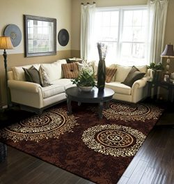 Modern Area Rug Brown Large Rugs For Living Room 8×10 Clearance Under 100