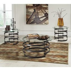 Ashley Furniture Signature Design – Kaymine Occasional Table Set – Contemporary &#82 ...
