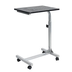 Coavas Overbed Table Medical Adjustable Portable Notebook Desk Sofa Side Table for Studying Read ...