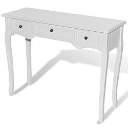 vidaXL Dressing Console Table Entry Hallway Side Table Accent Sideboard w/ 3 Drawers