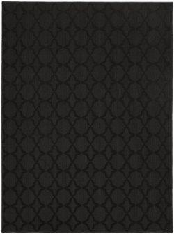 Garland Rug Sparta Area Rug, 5-Feet by 7-Feet, Black