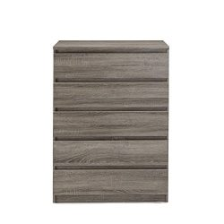 Tvilum Naia 5 Drawer Chest, Truffle