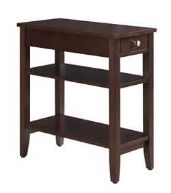 Convenience Concepts American Heritage 3-Tier End Table with Drawer, Espresso