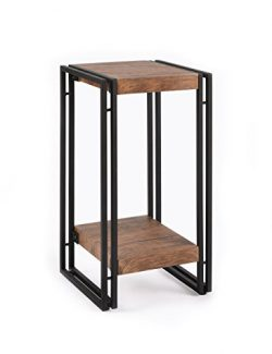FIVEGIVEN Accent Side Table for Small Spaces End Table for Living Room/Bedroom, Modern Wood and  ...