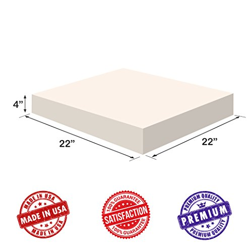Upholstery Foam-Square Cushion Sheet- Firm Soft-Premium Luxury Quality-Good for Chair Cushions-S ...