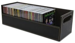 Stock Your Home Stacking CD Tray and Media Storage Box For CD Shelf Storage and Organization, Ho ...