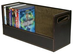 Stock Your Home Stackable DVD Storage Organizer & Movie Media Home Storage Box for DVD/BluRa ...
