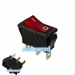 addtoword Rocker Switch Lighted On Off for Electric Fireplaces FMI Desa 120927-24 120 volt