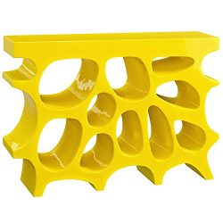 Modway Wander Small Stand In Yellow – Modern Side Table For Entryway – Magazine Or B ...