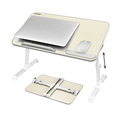 Laptop Bed Tray Table, Nearpow Adjustable Laptop Bed Stand, Portable Standing Table with Foldabl ...