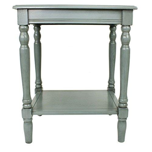 Décor Therapy FR1576 Simplify End Table, Antique Arctic Blue