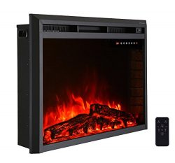"33"" Electric Fireplace Insert,Freestanding & Recessed Electric Stove Heater,Touch Scre ..."