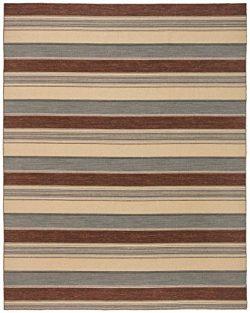 Stone & Beam Modern Striped Rug, 8′ x 10′, Beige