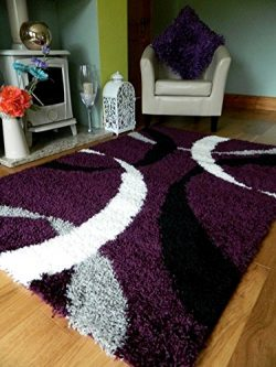 4 SIZES AVAILABLEEXTRA LARGE SMALL MEDIUM PURPLE BLACK CREAM SILVER NEW MODERN SOFT THICK SHAGGY ...