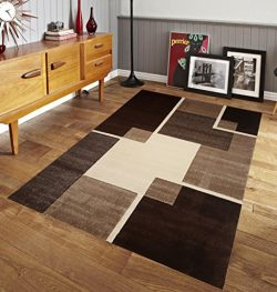 Easy Clean Stain Fade Resistant for Living Room Bedroom Kitchen Area Rug Renzo Collection, Moder ...