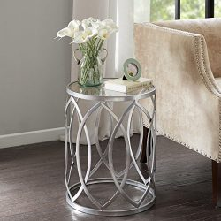 Madison Park Arlo Metal Eyelet Accent Table