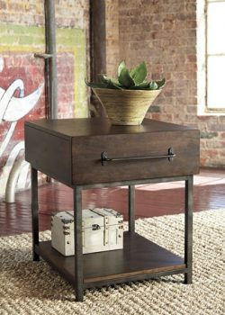 Ashley Furniture Signature Design – Starmore Rectangular End Table – Rustic Contempo ...