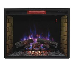 ClassicFlame 33II310GRA 33″ Infrared Quartz Fireplace Insert with Safer Plug
