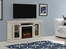 ClassicFlame Foxmoor Electric Fireplace TV Stand, White Oak – 18MM7325-PO34S