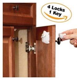 Cabinet Locks Child Safety By Emee Baby, Magnetic, Hidden, Under Cabinet, Keep Kids Secured, Imp ...