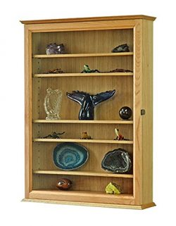 Premium Curio Display Case- Large- Oak Hardwood *Made in the USA*
