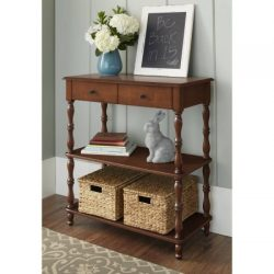 Better Homes and Gardens Adriana Console Table (Brown,Medium Brown)