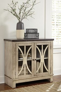 Ashley Furniture Signature Design – Vennilux Door Accent Cabinet – 2 Doors with Glas ...