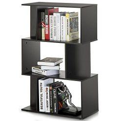 Homury Modern Wood Bookcase Storage Shelving Stand Bookshelf MultiMedia Storage Cabinet Organize ...