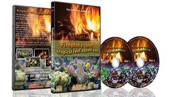 Fire and Fish – 2 DVD set Fireplace and Tropical Reef Aquarium 2016