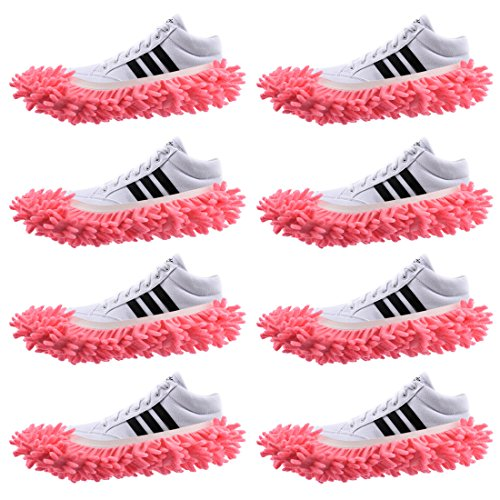 4 Pairs Slipper Shoes Cover Dust Mop Cover Lazy Floor