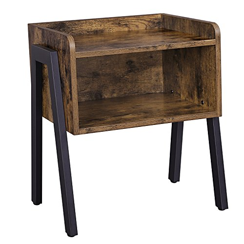 Songmics Vintage Side Table Stackable Nightstand End