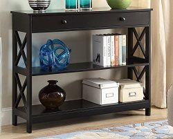 Convenience Concepts Oxford 1-Drawer Console Table, Black