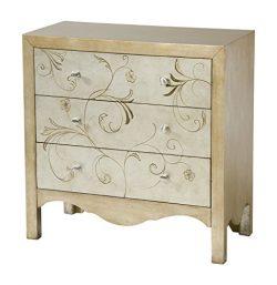 Stein World Furniture Shannon Accent Chest, Silver, Gold