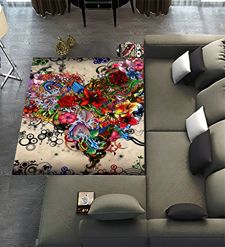 Unique carpet floor rugs mat for home living dining room - Colorful rugs for living room ...