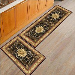 3 Piece Print Kitchen Rug Set Cute Rug Soft Floor Runner Coral Fleece Door Mat B 1 pc M 40x120cm ...