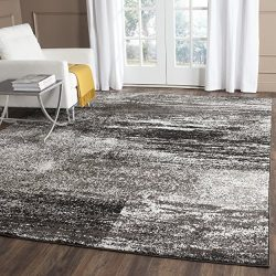 Safavieh Adirondack Collection ADR112A Silver and Black Modern Abstract Area Rug (6′ x 9&# ...