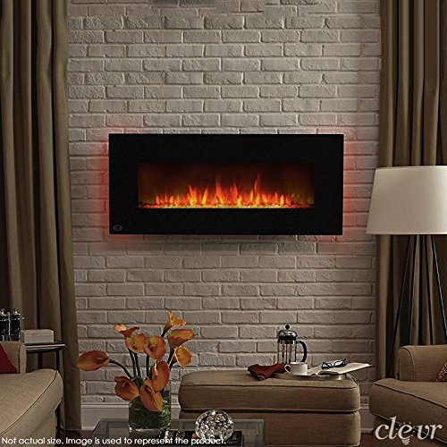 clevr 750 1500w 39 adjustable electric wall mount fireplace heater adjustable front colors and. Black Bedroom Furniture Sets. Home Design Ideas